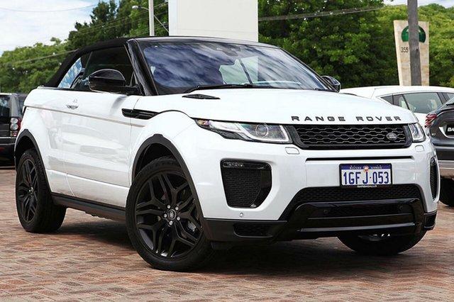Demonstrator, Demo, Near New Land Rover Range Rover Evoque TD4 180 HSE Dynamic, Osborne Park, 2016 Land Rover Range Rover Evoque TD4 180 HSE Dynamic Convertible