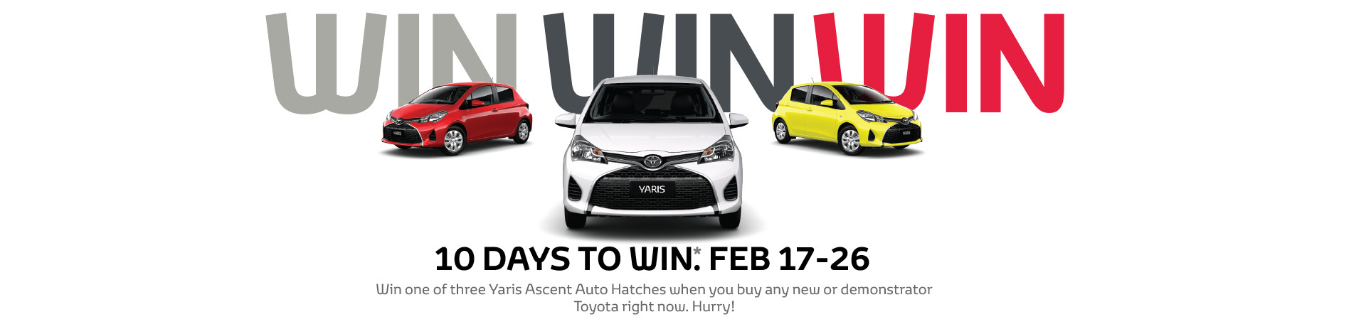 10 days to WIN Toyota National Offer