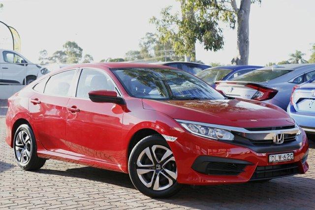 Discounted Demonstrator, Demo, Near New Honda Civic VTi, Narellan, 2016 Honda Civic VTi Sedan