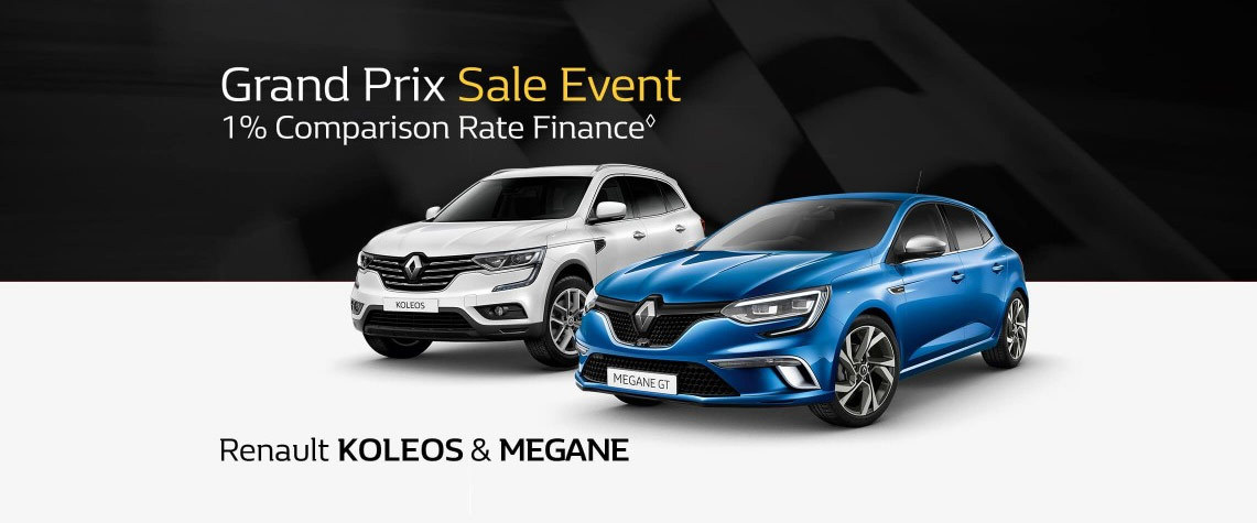 Renault - National offer - Grand Prix Sale Event - 1% Comparison Rate Finance