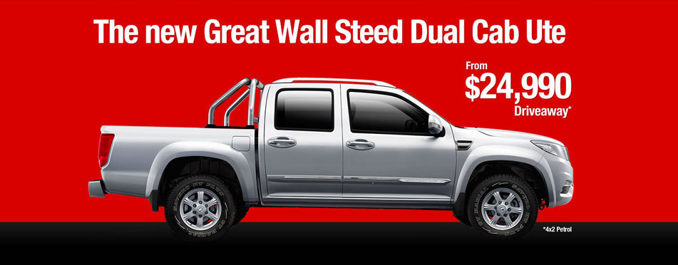 Great Wall - The New Great Wall Steed Dual Cab Ute From $24,990 Driveaway