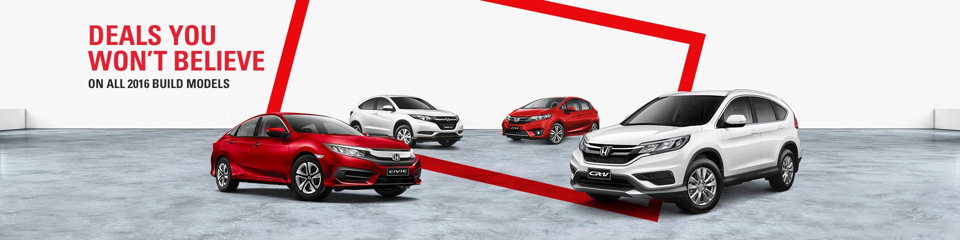 Honda - National offer - Deals You Won't Believe On All 2016 Build Models