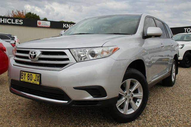 Used Toyota Kluger KX-R (FWD) 7 Seat, Bathurst, 2013 Toyota Kluger KX-R (FWD) 7 Seat Wagon