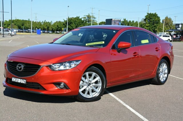 Used Mazda 6 GJ1021 Touring SKYACTIV-Drive, 2013 Mazda 6 GJ1021 Touring SKYACTIV-Drive Maroon 6 Speed Sports Automatic Sedan