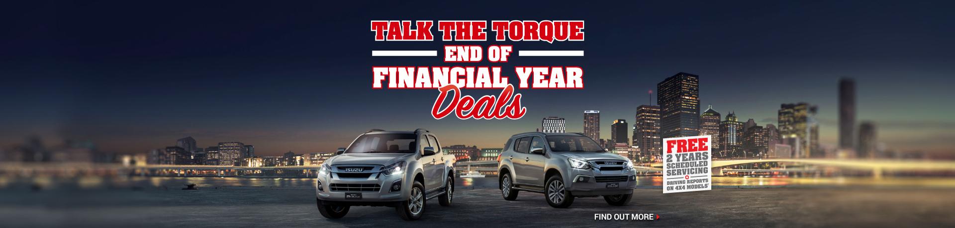 Isuzu National Offer - Talk The Torque - End Of Year Financial deals