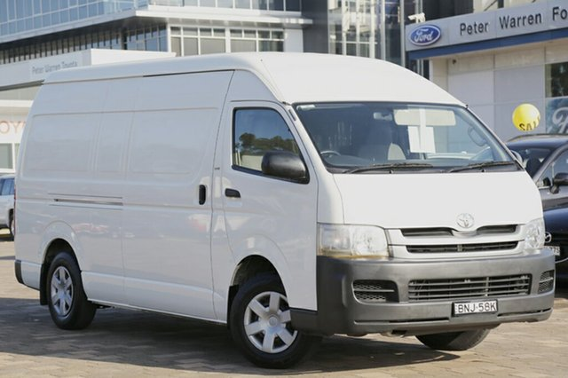Used Toyota Hiace High Roof Super LWB, Warwick Farm, 2010 Toyota Hiace High Roof Super LWB Van