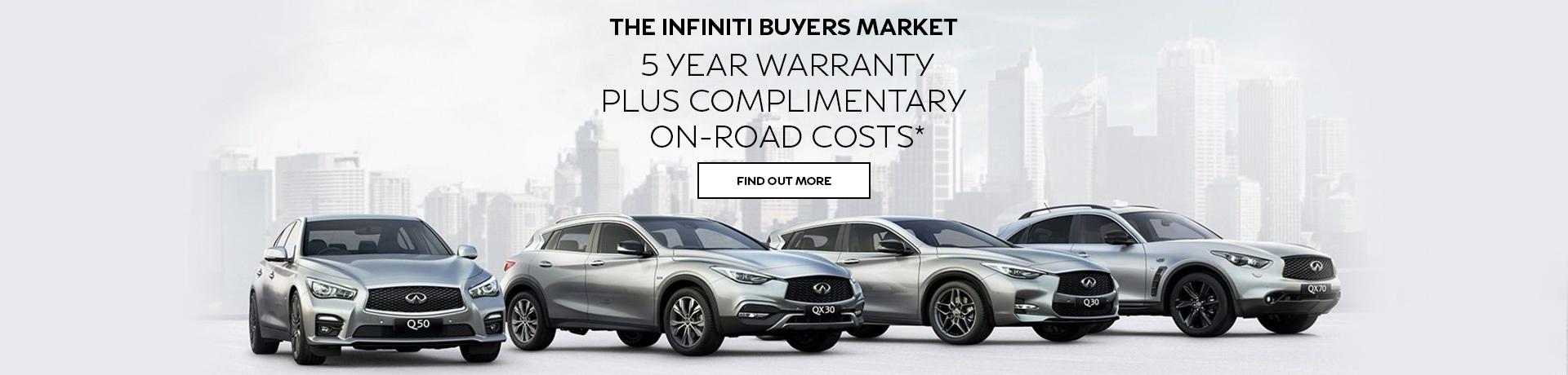 Infiniti - National Offer - Infiniti Buyers Market - 5 Year Warranty PLus Compli