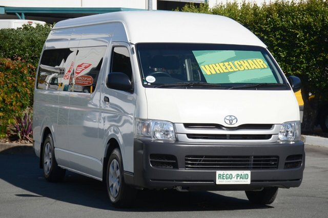 Used Toyota Hiace Commuter High Roof Super LWB, Acacia Ridge, 2009 Toyota Hiace Commuter High Roof Super LWB KDH223R MY10 Bus