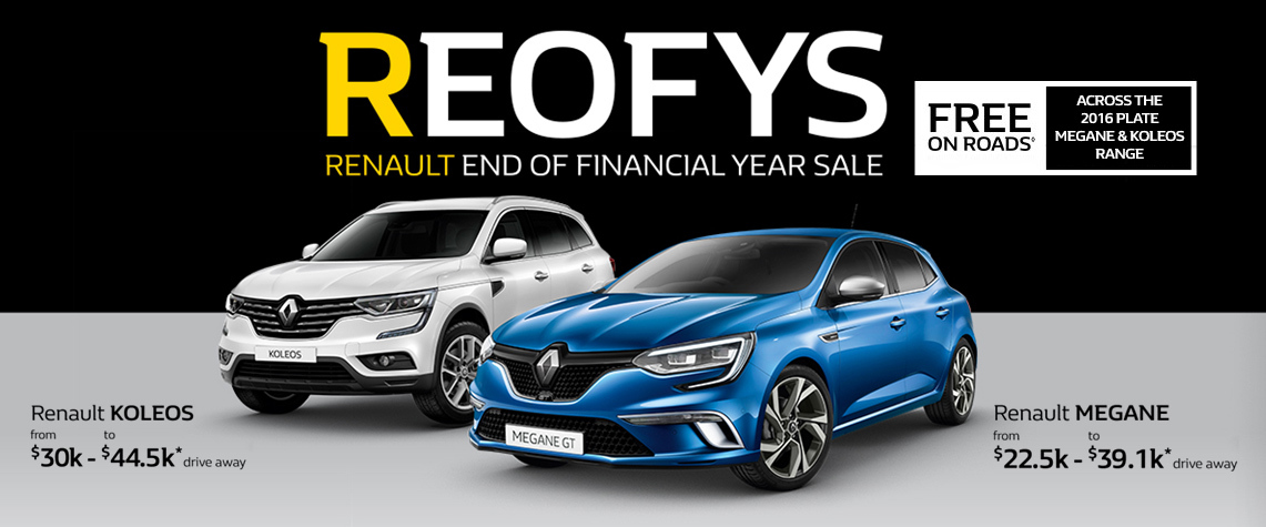 Renault - National Offer - REOFYS - Free On Roads Across The 2016 Plate Megane &