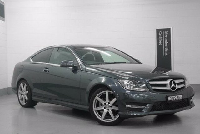 Demonstrator, Demo, Near New Mercedes-Benz C180 Avantgarde 7G-Tronic +, Chatswood, 2015 Mercedes-Benz C180 Avantgarde 7G-Tronic + Coupe