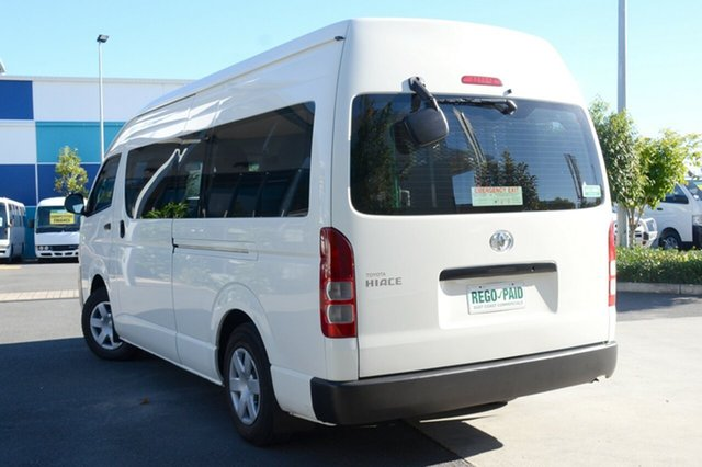 Used Toyota Hiace Commuter High Roof Super LWB, Robina, 2011 Toyota Hiace Commuter High Roof Super LWB KDH223R MY11 Bus