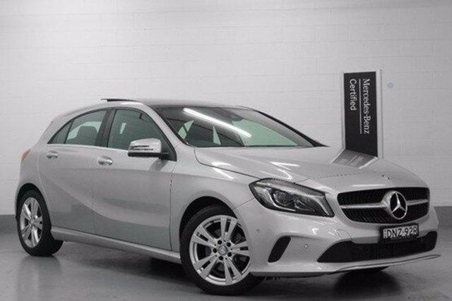 Demonstrator, Demo, Near New Mercedes-Benz A180 D-CT, Chatswood, 2016 Mercedes-Benz A180 D-CT Hatchback