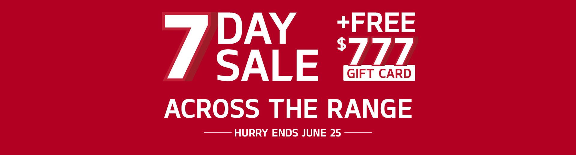 Kia's 7 Day Sale
