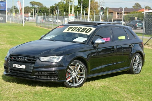 Used Audi S3 8V MY14 Sportback S tronic quattro, 2014 Audi S3 8V MY14 Sportback S tronic quattro Black 6 Speed Sports Automatic Dual Clutch Hatchback