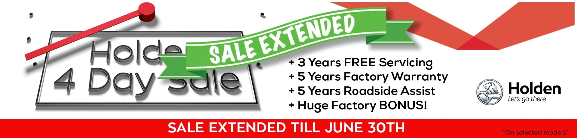 Holden 4 Day Sale Extended