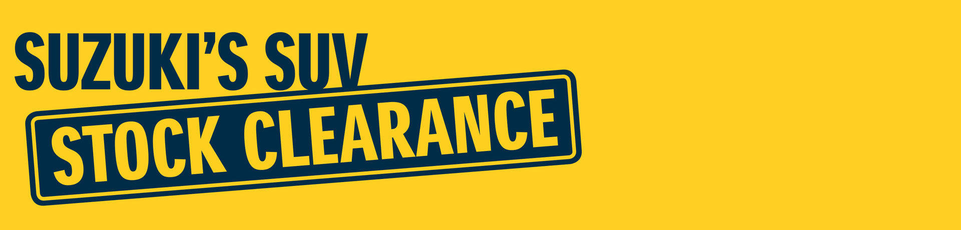 Suzuki - National Offer - Suzuki's SUV Stock Clearance