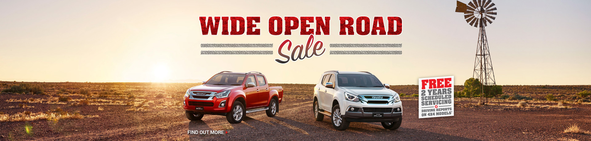 Isuzu - National Offer - Free 2 Year Scheduled Servicing + Driving Reports on 4X