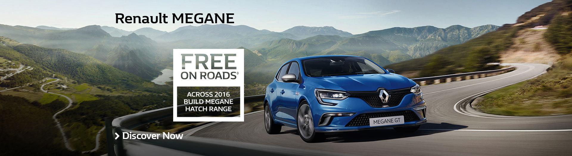 Renault - National Offer - Renault Megane - Free On Roads Across 2016 Build Mega