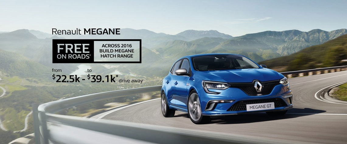 Renault - National Offer - Renault Megane - Free On Roads Across 2016 Build Mega