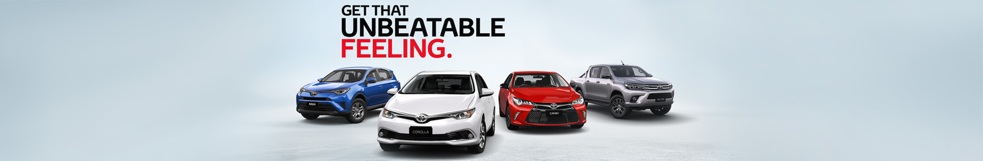 Toyota - National Offer - Get That Unbeatable Feeling - Toyota Value