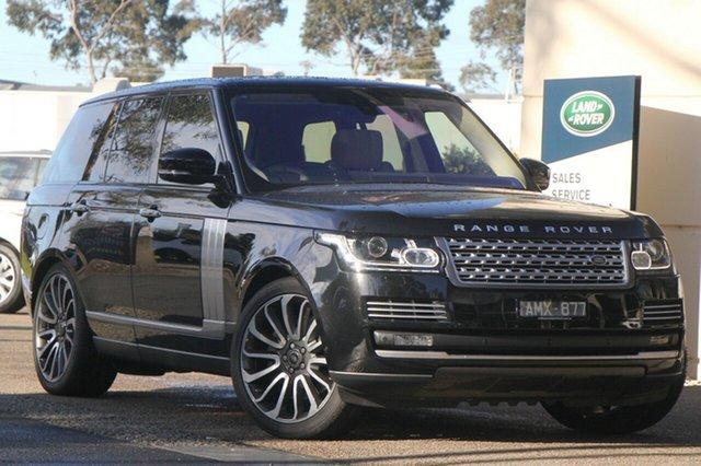 Demonstrator, Demo, Near New Land Rover Range Rover SDV8 Autobiography, Port Melbourne, 2016 Land Rover Range Rover SDV8 Autobiography Wagon