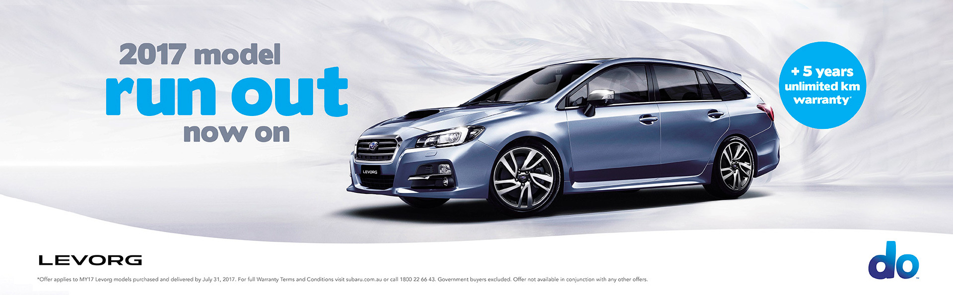 Subaru - National Offer -2017 Levorg Run Out Sale