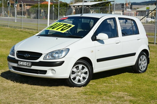Used Hyundai Getz TB MY09 SX, 2010 Hyundai Getz TB MY09 SX White 4 Speed Automatic Hatchback