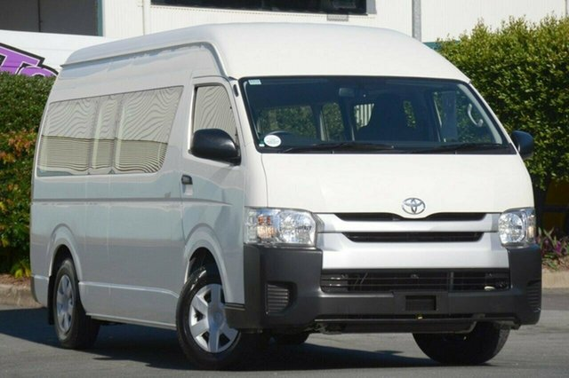 Discounted Used Toyota Hiace Commuter High Roof Super LWB, Acacia Ridge, 2014 Toyota Hiace Commuter High Roof Super LWB TRH223R MY14 Bus