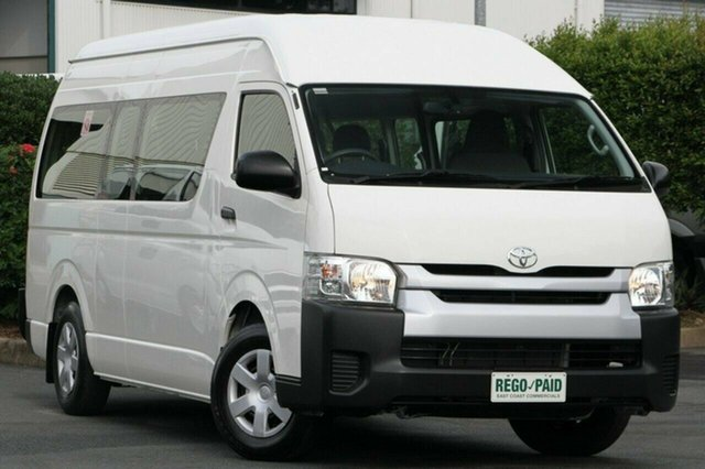 Used Toyota Hiace Commuter High Roof Super LWB, Acacia Ridge, 2014 Toyota Hiace Commuter High Roof Super LWB TRH223R MY14 Bus