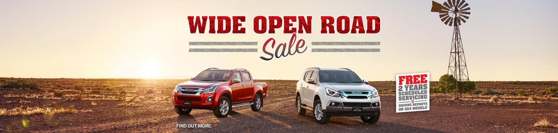 Wide Open Road Sale