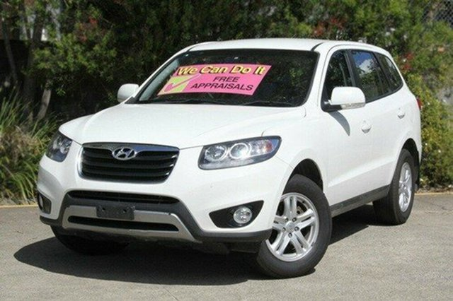 Used Hyundai Santa Fe CM MY10 SLX, 2011 Hyundai Santa Fe CM MY10 SLX White 6 Speed Sports Automatic Wagon