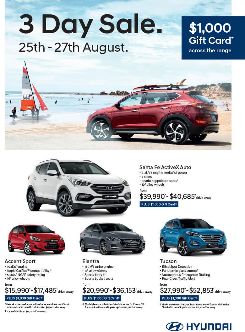 Hyundai 3 Day Sale