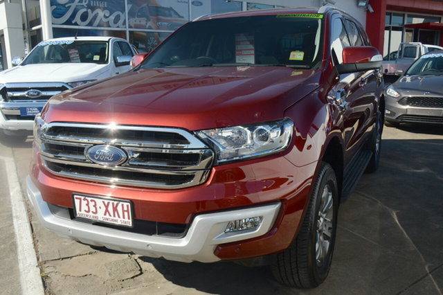 Demonstrator, Demo, Near New Ford Everest Trend 4WD, Beaudesert, 2017 Ford Everest Trend 4WD Wagon