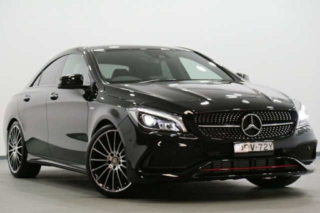 Demonstrator, Demo, Near New Mercedes-Benz CLA250 Sport DCT 4MATIC, Narellan, 2017 Mercedes-Benz CLA250 Sport DCT 4MATIC Coupe