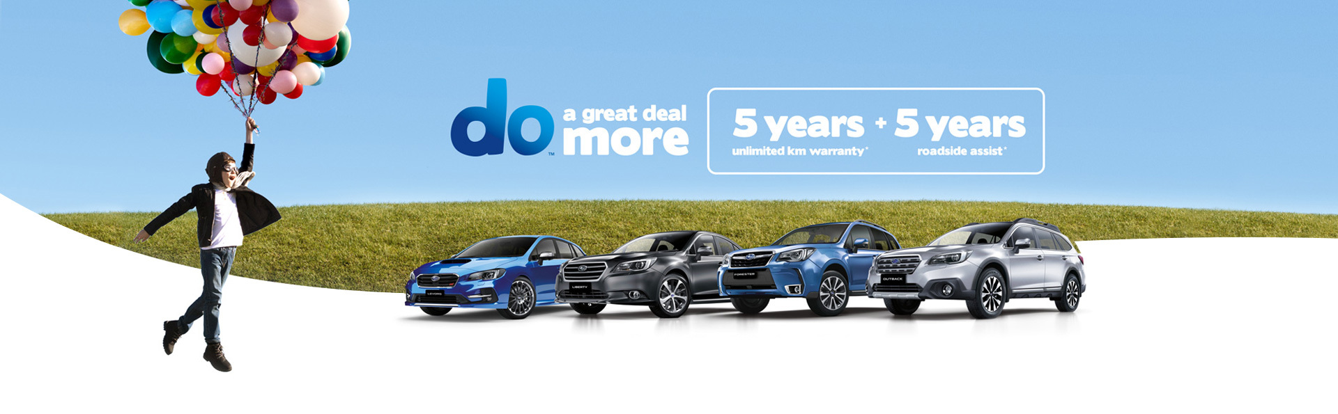 Subaru - National Offer - 5 Years Unlimited KM Warranty + 5 Years Roadside Assis