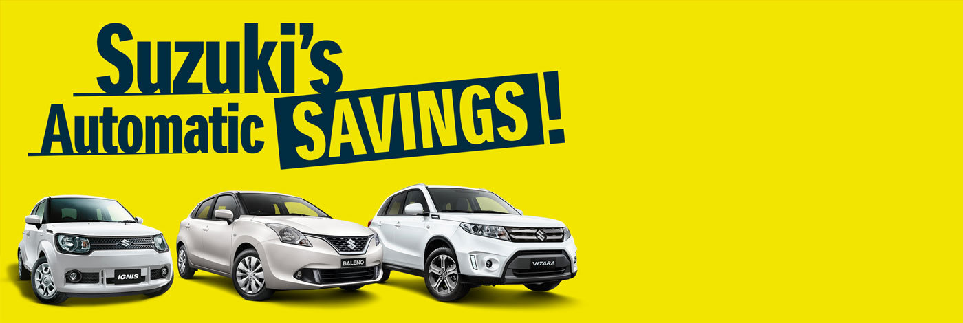 Suzuki - National Offer - Suzuki's Automatic Savings