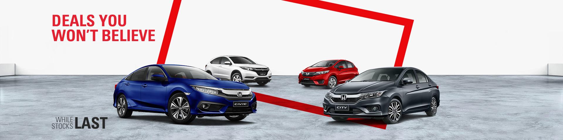 Honda - National Offer - Deals You Won't Believe