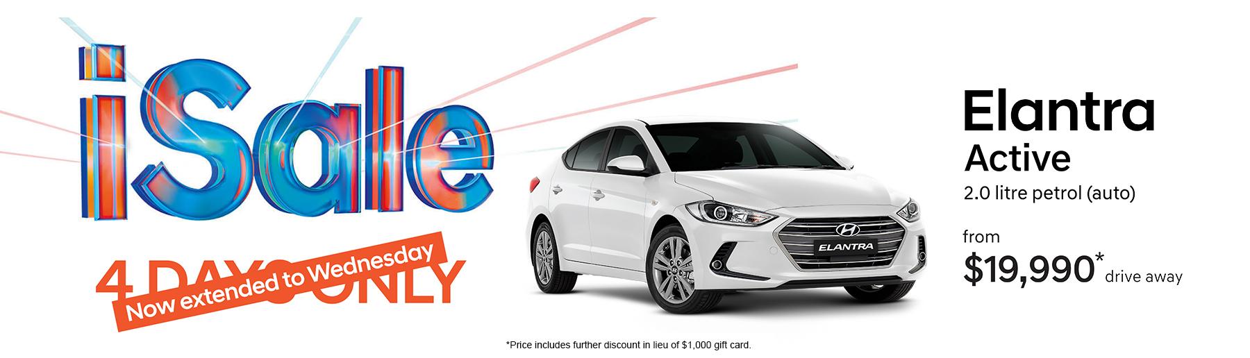iSale - Hyundai Elantra Offer