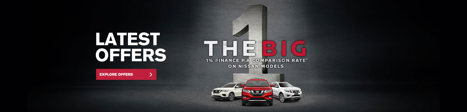 Nissan - National Offer- The Big 1 - 1% Finance PA Comparison Rate*