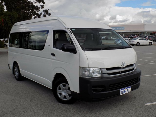 Used Toyota Hiace Commuter High Roof Super LWB, Maddington, 2009 Toyota Hiace Commuter High Roof Super LWB Bus