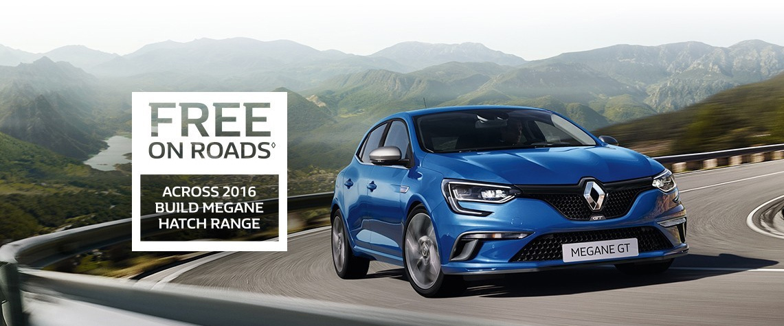 Renault - October National Offer - Free On Roads - Megane Hatch Range