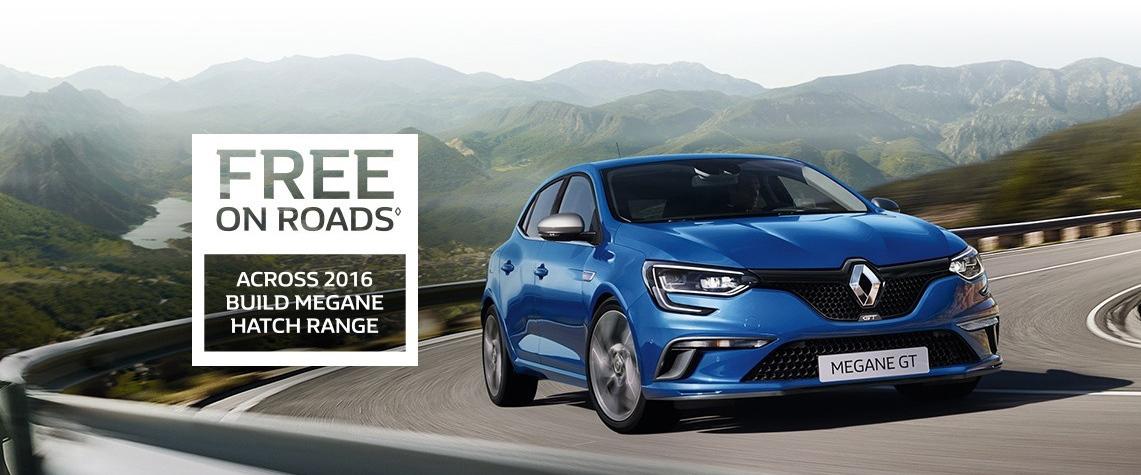 Renault -October National Offer - Free On Roads - Megane Hatch Range