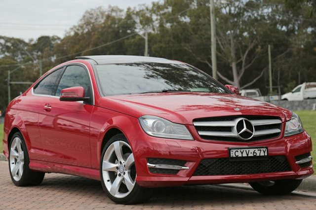 Discounted Used Mercedes-Benz C180 Avantgarde 7G-Tronic +, Warwick Farm, 2015 Mercedes-Benz C180 Avantgarde 7G-Tronic + Coupe