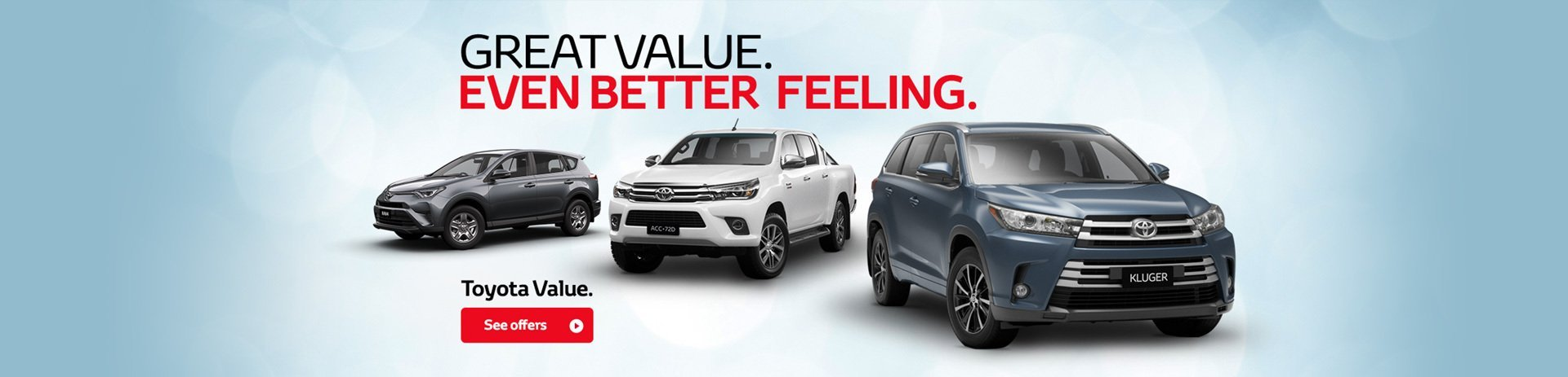 Toyota - Nation Offer - Great Value..