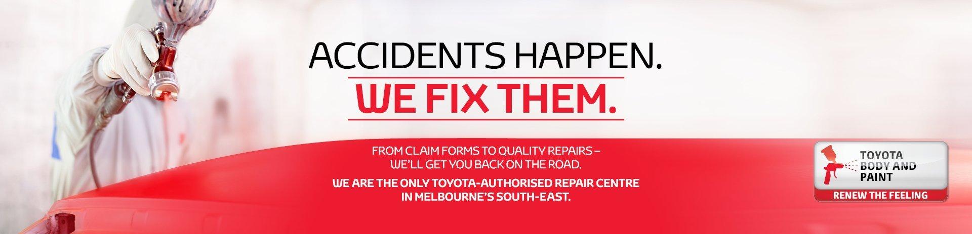 Crash repairs Oakleigh