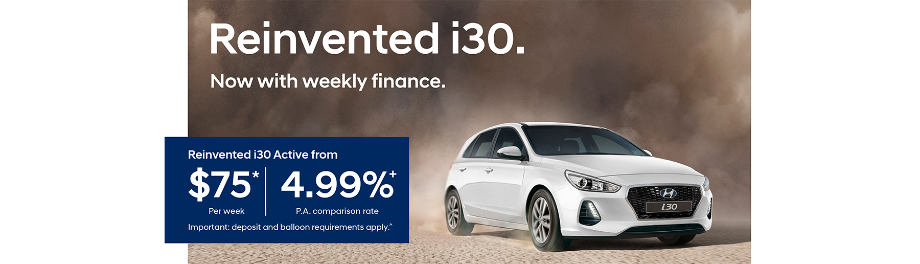 i30 Now with Weekly Finance