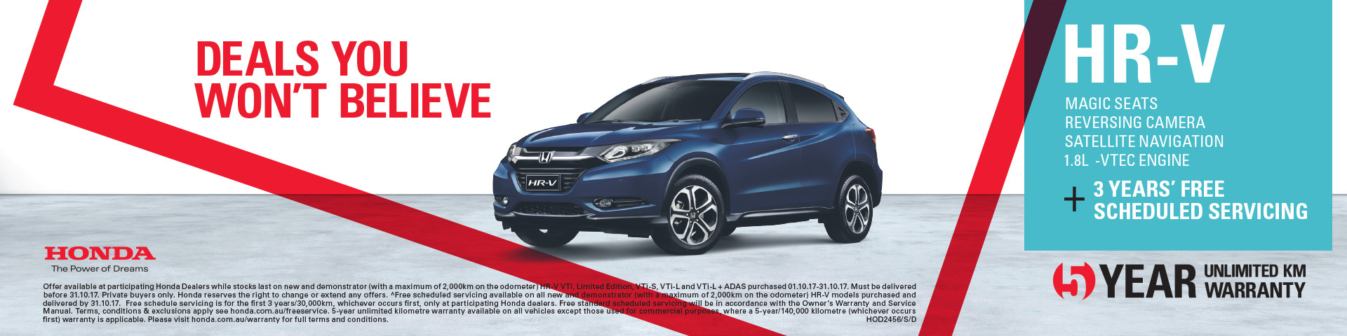 Honda - National Offer - HR-V with 3 Years Scheduled Servicing