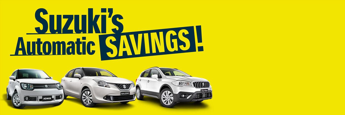 Suzuki - National Offer - Suzuki Automatic Savings
