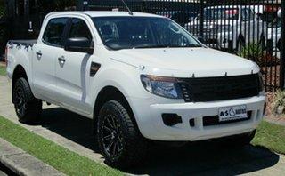 Used Ford Ranger XL 2.2 HI-Rider (4x2), Springwood, 2014 Ford Ranger XL 2.2 HI-Rider (4x2) PX Crew Cab Pickup