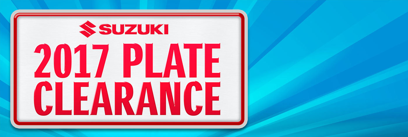 Suzuki - National Offer - Suzuki 2017 Plate Clearance